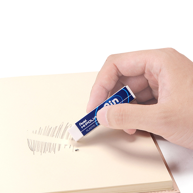 Pentel Ain Series Hi Polymer Plastic Pencil Eraser Less Abrasion And Dust Longer Use School