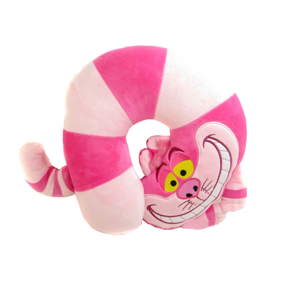 Cheshire Cat Stuff Plush U Shaped Neck Pillow Toy Doll Birthday Gift Collection 26cm
