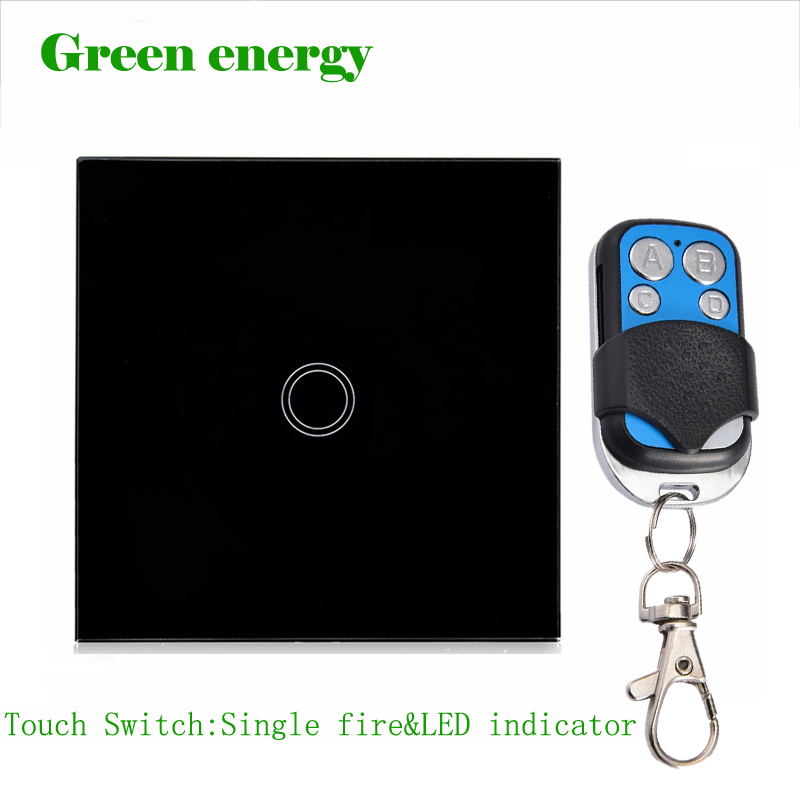FREE Shipping, MiniTiger EU/UK Standard, Touch Remote Switch, Black Crystal Glass Panel, 170~250V Wall Light Remote&Touch Switch uk 1gang dimmer led touch switches black crystal glass panel light wall switch remote smart home 220v 110v free shipping