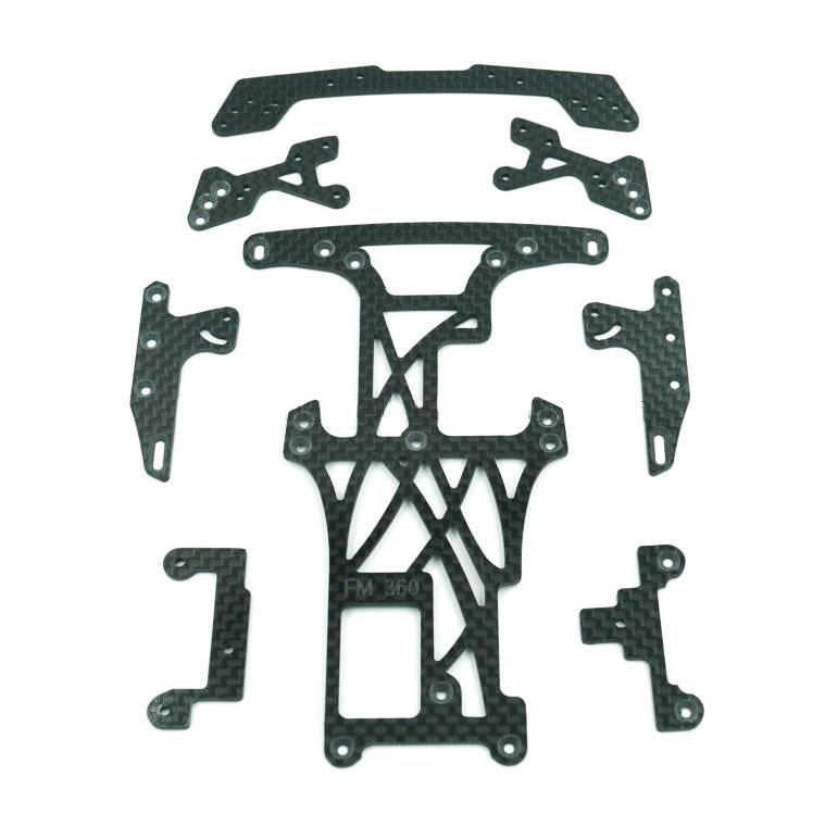 1Set Super FM SFM EVO ver.2 Reinforcing Carbon Fiber Chassis Plate Upgrade Spare Parts For Tamiya Mini 4WD Car Model glass fiber front stay rear stay reinforcing plate side plate spare parts for diy tamiya mini 4wd rc car model 94848 94847