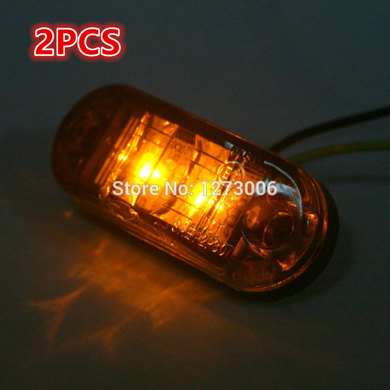 12v 2 pcs car side signals lights blinker red or yellow. Black Bedroom Furniture Sets. Home Design Ideas