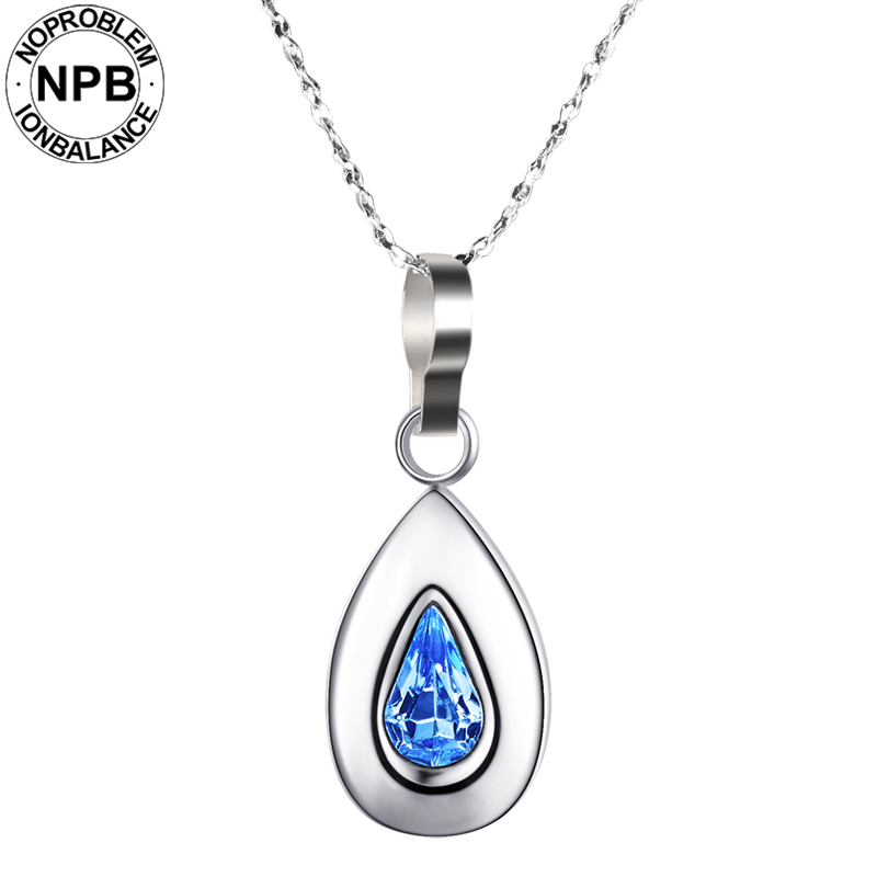 Noproblem 019 ion balance brand therapy lady jewelry water drop pendant tourmaline 99.999% pure germanium necklacesNoproblem 019 ion balance brand therapy lady jewelry water drop pendant tourmaline 99.999% pure germanium necklaces