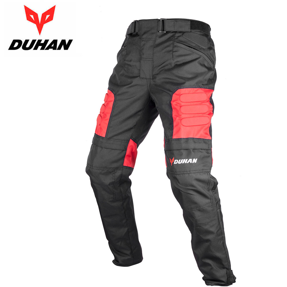 Brand Motorcycle Protection Riding Black Pants DUHAN Oxford Cloth MOTO Waterproof Windpoof Trousers with Knee Protectors for Men duhan men pantalon moto oxford cloth motorcycle enduro racing pantalon trousers motorcycle pants motorcycle trousers moto pants