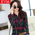 Women Blouses New Spring Fashion Plus Size Plaid Shirt Females Cotton Long Sleeve Casual Shirts Style Blusas Femininas Clothing