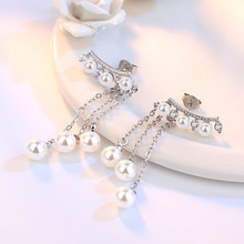 Imitation Pearl Crystal Ladies Stud Fashion Earrings Jewelry