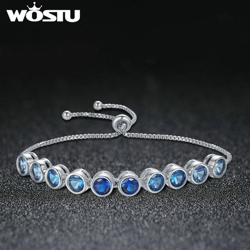 13cb12637 WOSTU New Designer Bracelets & Bangles Blue Dreamland Bracelet for Women  Fashion AAA Cubic Zircon Jewelry Gift XCNB039-in Chain & Link Bracelets  from ...