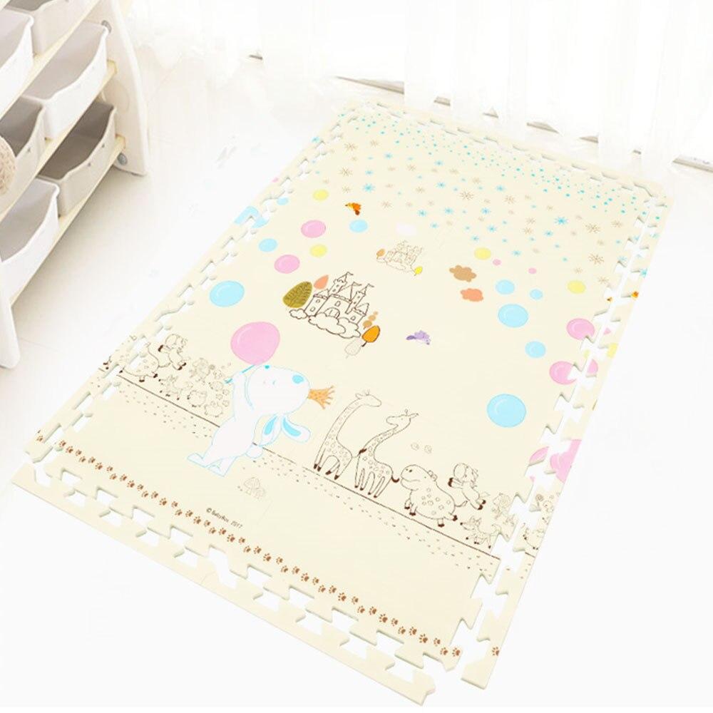 MrY tapis de jeu 60*60*2CM bébé tapis de jeu 6 pièces/ensemble enfants mousse douce escalade jouets Puzzle tapis tapis tapis pour enfants jeux tapis