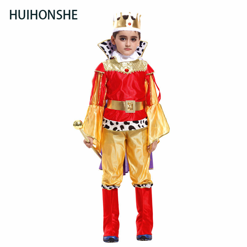 HUIHONSHE children king cosplay costume kids christma halloween Prince Charming party clothes,suitale for height 90cm-140cm kids