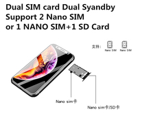 Super Mini Smartphone Melrose 2019 Ultra Slim 3.4Inch MTK6739V 1GB 8GB Android 8.1 Fingerprint ID 5MP 4G Mobile Phone Pk S9 Plus