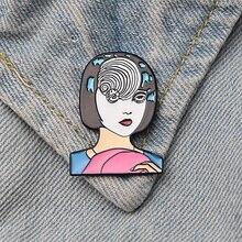DMLSKY Uzumaki pins Crerative Imagine brooch Enamel Pins and Brooches Women fashion Clothes Shirt Collar Gifts M3522