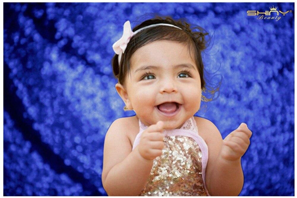 Toile de fond rideaux bleu Royal 8x10ft bébé douche toile de fond support