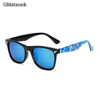 a70760d497 Glitztxunk de Niños de moda gafas de sol negro Color DE UV400 cuadrado  Retro niños gafas de sol niños niñas bebé al aire libre gafas