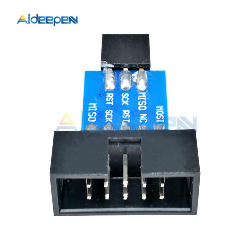 10 Pin naar 6 Pin Adapter Board ISP Interface Converter Voor Arduino AVR MCU Development Board AVRISP USBASP STK500 Programmeur