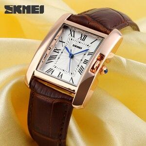 Image 4 - SKMEI Merk Vrouwen Horloges Mode Toevallige Quartz Horloge Waterdichte Lederen Dames Horloges Klok Vrouwen Relogio Feminino