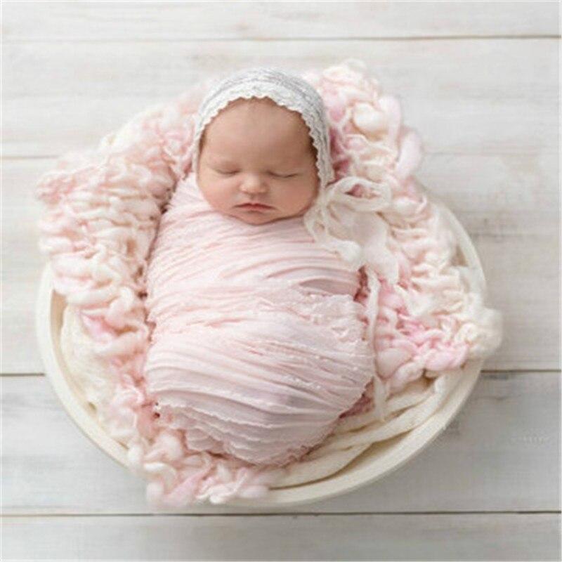 Spitze Baby Fotografie Requisiten Neugeborenen Fotografie Wraps Handgemachte Spitze Schal Baby Foto Requisiten Zubehör Infant Kleidung Swaddling QualitäTswaren