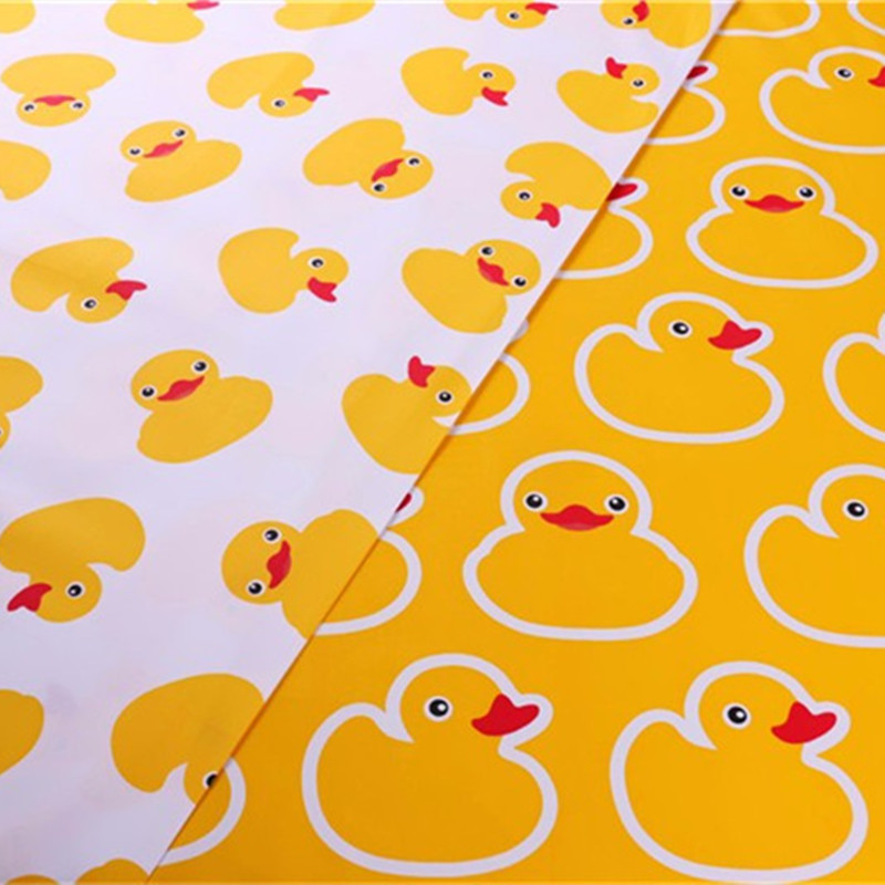 50*160cm Yellow Cat Animal Scrapbooking Fabric Stripes For Baby Children Bed Cotton Cushion Cover Ducks Sewing By The Meter Half