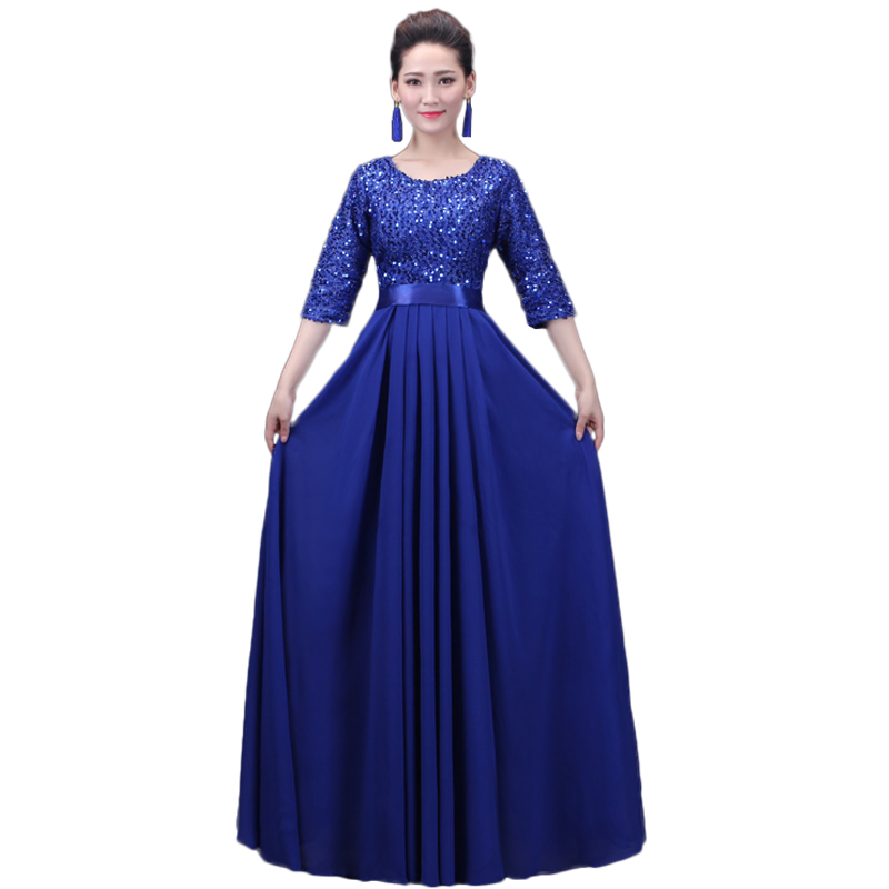Fishday Evening Gowns Dress Purple Royal Blue Sequined Red Long Imported  Party Junior Mother of the Bride With Sleeve Cape B45-in Evening Dresses  from ... 8b7b2bcf02cd