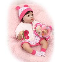 NPKCOLLECTION 22 Inch 55 cm Reborn Baby Doll Lifelike Newborn Princess Girl Babies Real Looking Alive Boneca Kids Birthday Gift