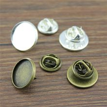 10 Sets Broche Pin Base Broche Pin 2 Kleuren Fit 12 Mm ~ 25 Mm Cabochons Ronde Cabochon Pin Instellen broches Sieraden Vinden(China)
