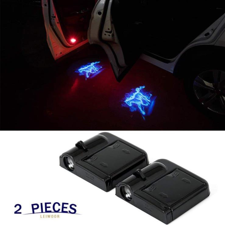 The Best Mon-su 2pcs Led Car Door Welcome Logo Light For Peugeot For Mercedes Benz Projector Ghost Shadow Lamp Bright In Colour