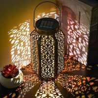 Солнечный фонарь полый резной подвесной яркий фонарь с ручкой для домашнего декора can CSV