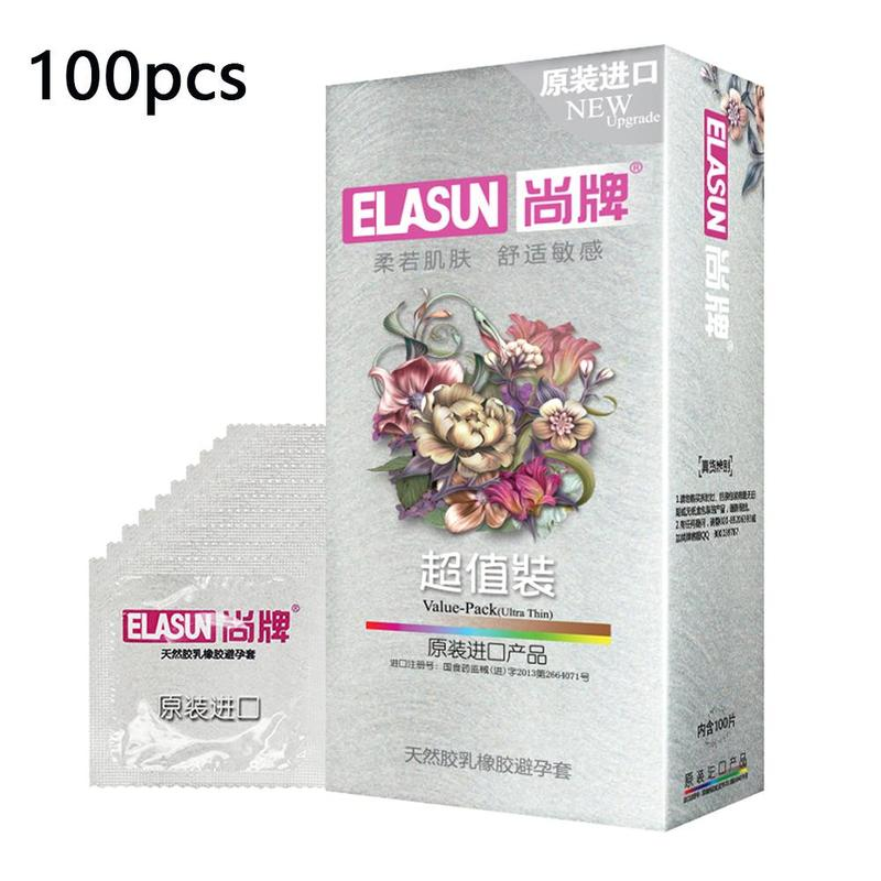 100pcs lot Contraception condom Smooth sensation penis cock sleeve lubricated condoms for men natural latex Sex products in Condoms from Beauty Health