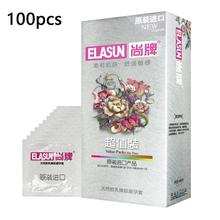 100pcs/lot Contraception condom Smooth sensation penis cock sleeve lubricated condoms for men natural latex Sex products