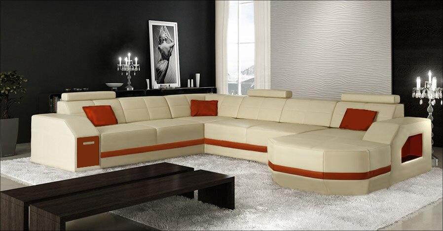 Contemporary italian living room leather corner sofa modern ...