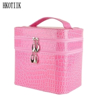 Fashionable Large Crocodile Cosmetic Bag Wholesale Necklace Earrings Box Jewelry Showcase Travel Cleaning Cosmetic Bag Beauty
