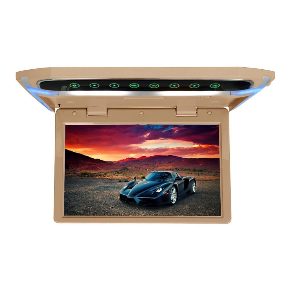 Потолочный монитор на крыше, 10 дюймов, 1080 P, ЖК дисплей, TFT экран, Автомобильный потолочный монитор, откидывающийся на крышу, монтируемый светодиодный дисплей, цифровой Широкоэкранный монитор - 2