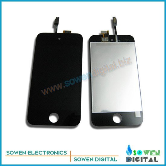 For ipod Touch 4 LCD Display+ Touch Screen Glass Complete Assembly  LCD, 100%  guarantee