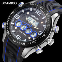 BOAMIGO Brand Men Sports Watches Fashion Watches Rubber Quality LED Digital Wristwatch 30m Water Resistant Clock Reloj Hombre