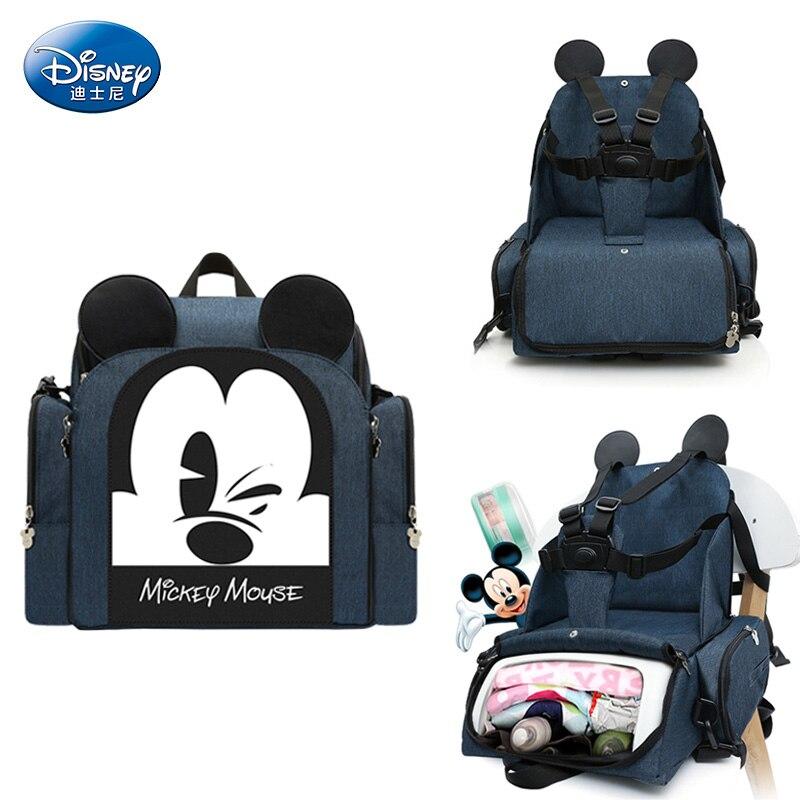 Sac à langer DISNEY sac à dos de voyage multifonctionnel bébé siège de sécurité bolsos Mickey sac bébé sacs pour maman