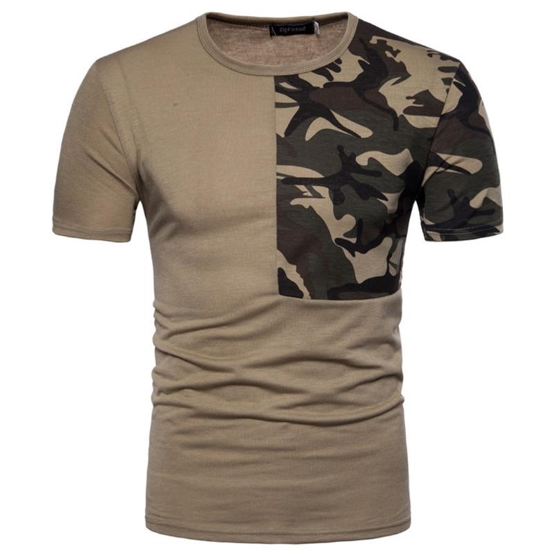 New Men Casual T-shirt Camouflage Short Sleeve Slim Fit Men Tops fashion tshirts mens tee clothing 4colour