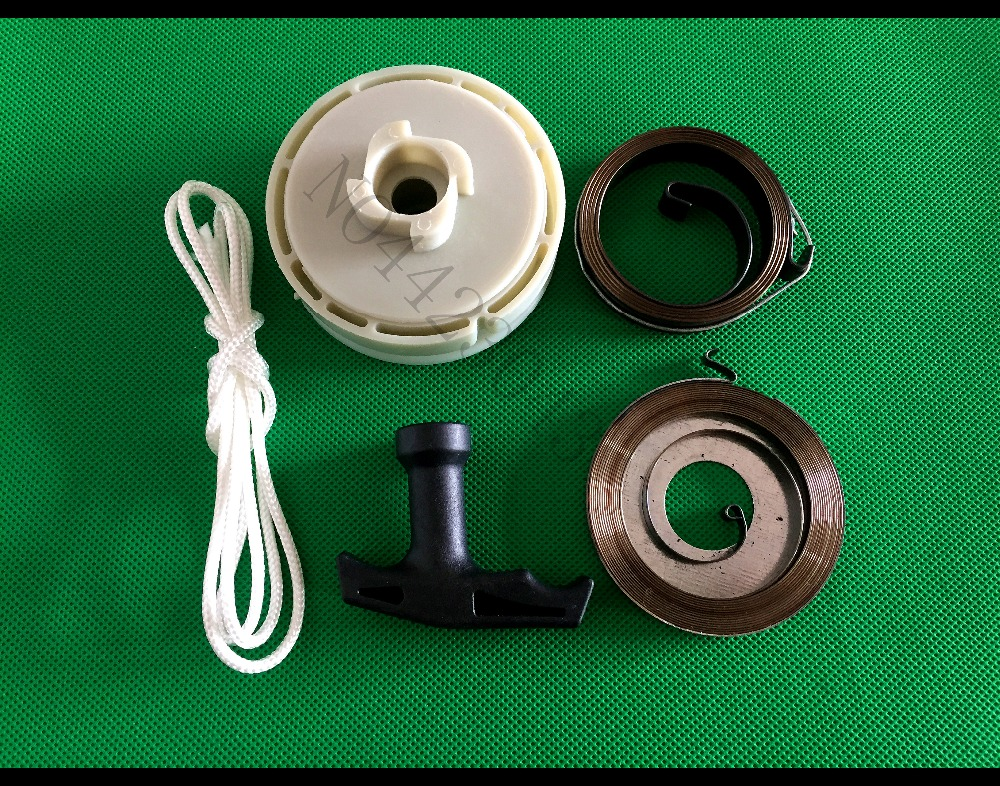 Start Spring /& Pull Rope /& Recoil Rope Rotor Pulley For Chinese Chainsaw