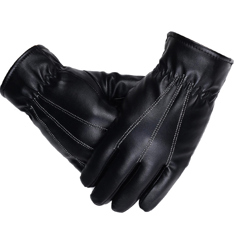 NAIVEROO Waterproof and Warm Touch Screen Gloves made of PU Leather and Conductive Fibers for Women Suitable for Spring and Winter