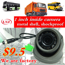 Car camera metal shell HD CCD hemisphereCamera Reverse backup Camera rearview parking IR Nightvision Bus Truck