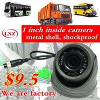 Car camera metal shell HD CCD hemisphereCamera Reverse backup Camera rearview parking IR Nightvision Bus Truck Camera