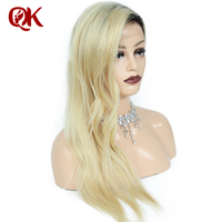 QueenKing hair Full Lace Wig 130% Density Ombre T1B 613 Silky Straight Preplucked Hairline 100% Brazilian Human Remy Hair