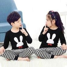 Купить с кэшбэком Kids Pajamas Children Clothing Sets Spring Autumn Cotton Baby Pajamas For Girls Boys Cartoon Sleepwear 2-Pieces Top+Pant Pyjamas