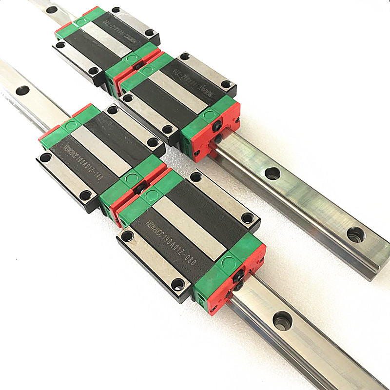 Image 4 - 2pc HGR20 HGH20 Square Linear Guide Rail ANY LENGTH+4pc Slide Block Carriages HGH20CA/flang HGW20CC CNC Router Engraving-in Linear Guides from Home Improvement