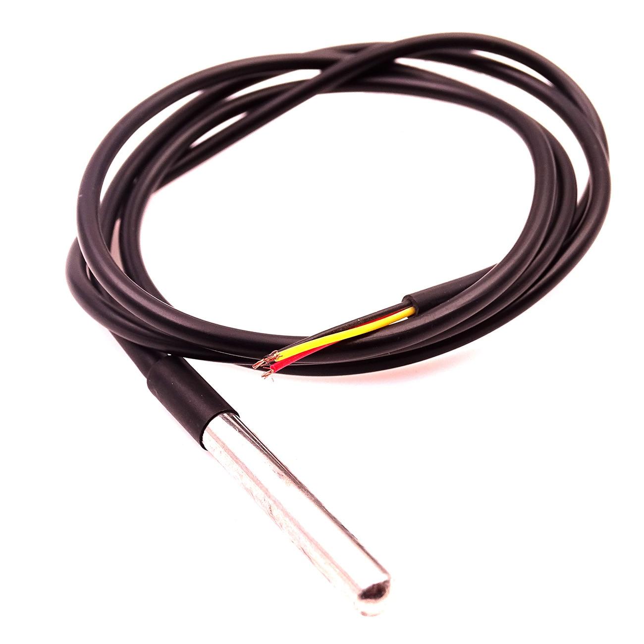 5 pçs ds1820 pacote de aço inoxidável dwaterproof ds18b20 à prova dwaterproof água sensor temperatura da água sonda 18b20 para arduino