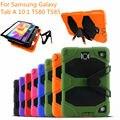 Para samsung galaxy tab 10.1 sm-t580 t585 tablet caso kickstand impacto híbrido de servicio pesado resistente cubierta protectora + film + pluma + otg