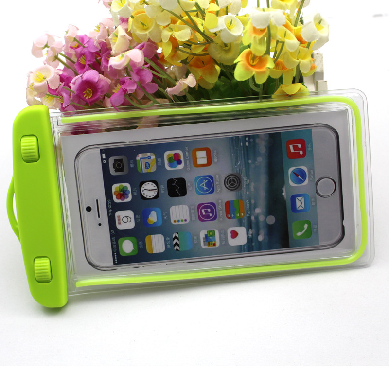 Fluorescence waterproof phone case fashion PVC touch mobile accessories