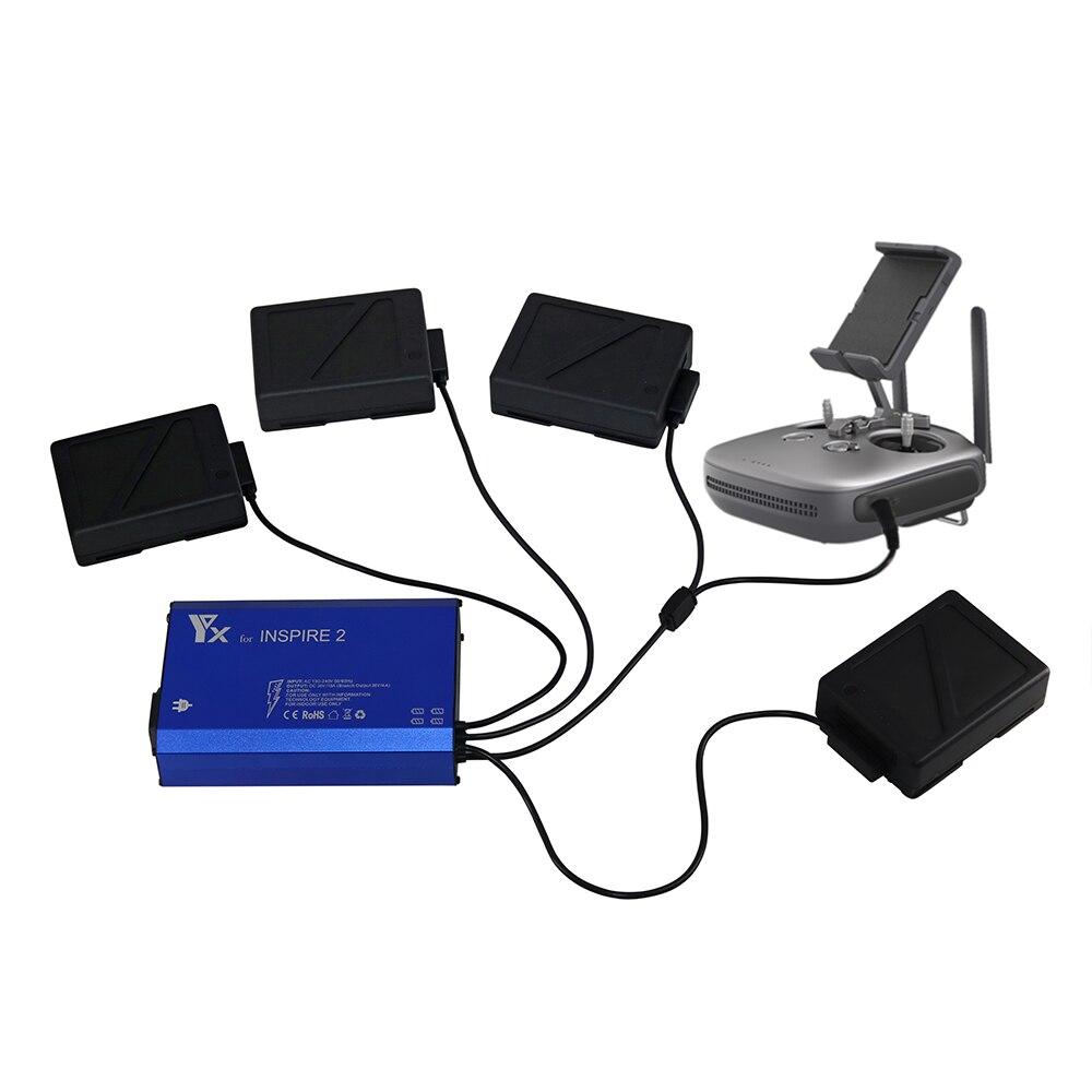 5 в 1 умный Inspire 2 зарядное устройство для батареи пульт дистанционного управления умный Быстрый зарядный концентратор для DJI Inspire 2 Drone запасн...