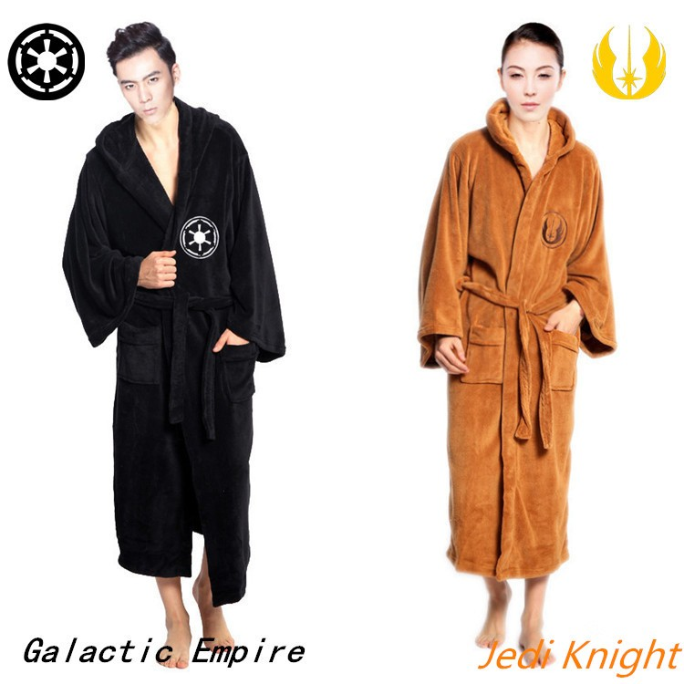 e55df25799 Hot Sale Star Wars Darth Vader Coral Fleece Terry Jedi Adult Bathrobe Robes  Halloween Cosplay Costume