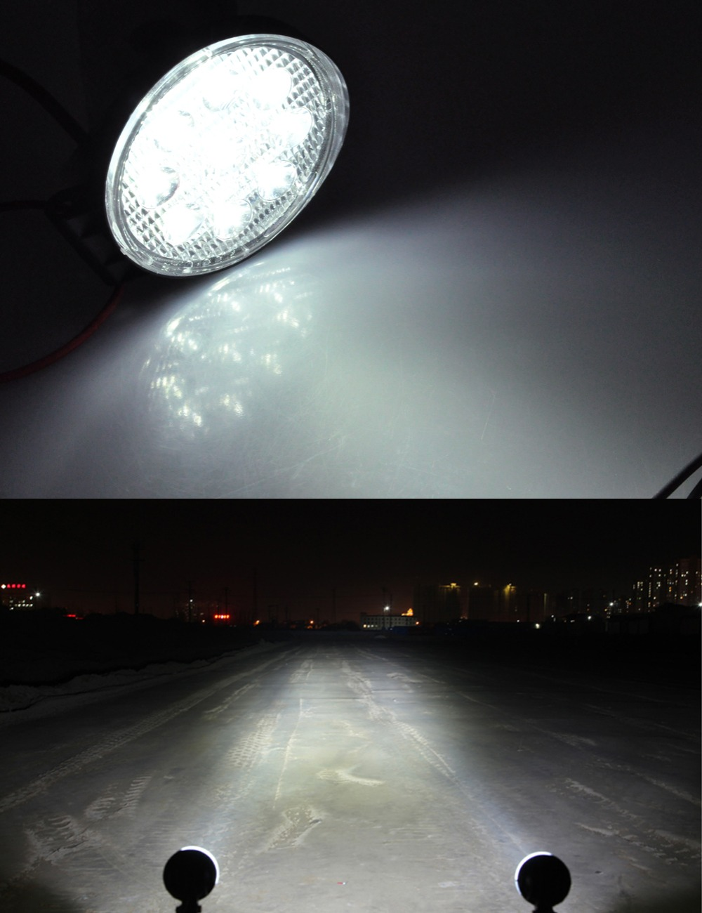 AutoEC 4 düym 27W LED Light Offroad Göstəricilər Motosiklet - Avtomobil işıqları - Fotoqrafiya 4