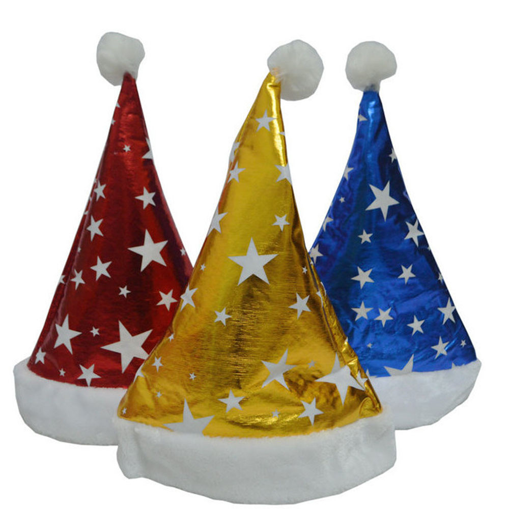 Hot Sale Unisex New Christmas Holiday Xmas Caps Stars Printed Christmas Caps Gifts Christmas Holiday Costumes Accessories