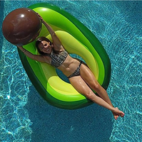 165*135cm Avocado Swimming Ring Inflatable Swim Giant Pool Floats for Adults Tube Floating Swim Pool Toys 2019 New