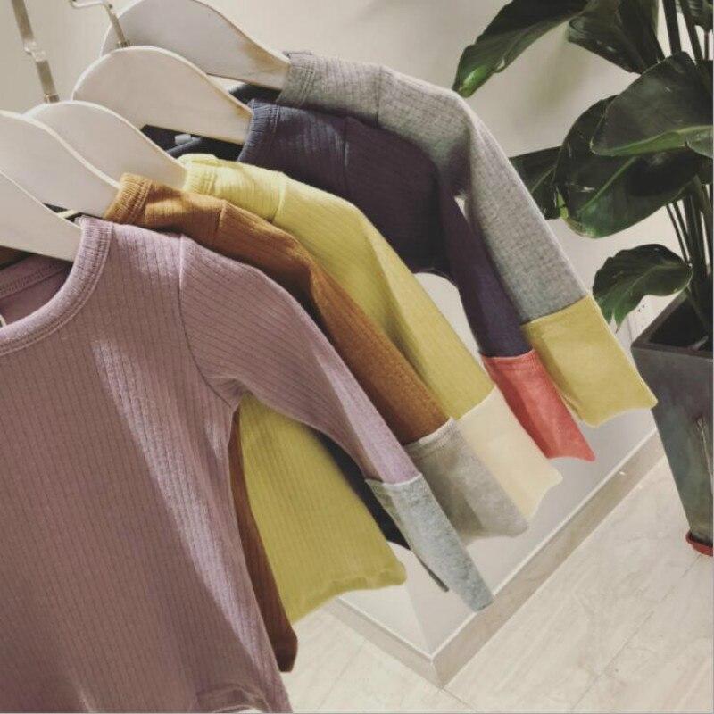 Las nuevas polainas de las muchachas polainas del resorte pequeña Tong Pit pantalones de Color femenino del todo-fósforo ropa del bebé
